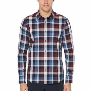 Perry Ellis Long Sleeve 'Untucked' Sport Shirt